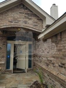failing brick entryway